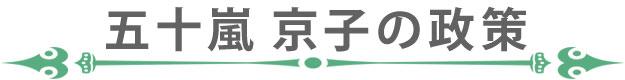 五十嵐京子の政策